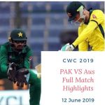 pak vs aus highlights 2019 world cup