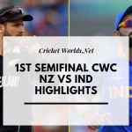 India vs Nz cwc highlights