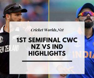 India vs Nz cwc highlights