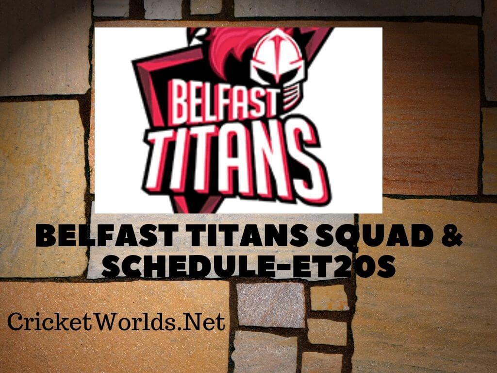 Belfast Titans Squad