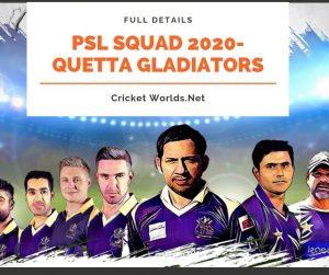 Quetta Gladiators Squad