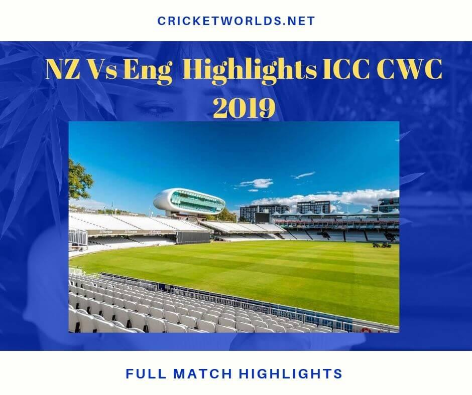nz vs eng match highlights