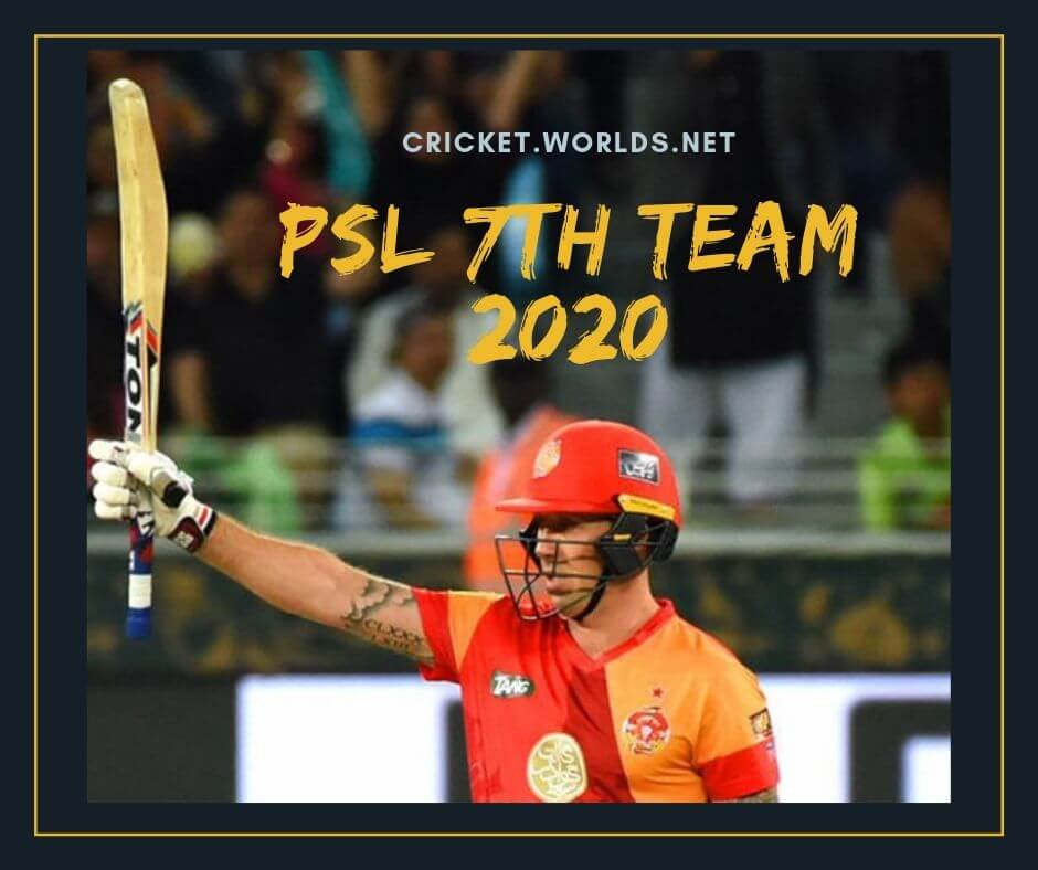 psl 2019 7th team