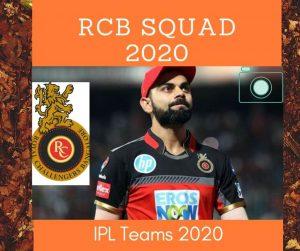 rcb squad 2020