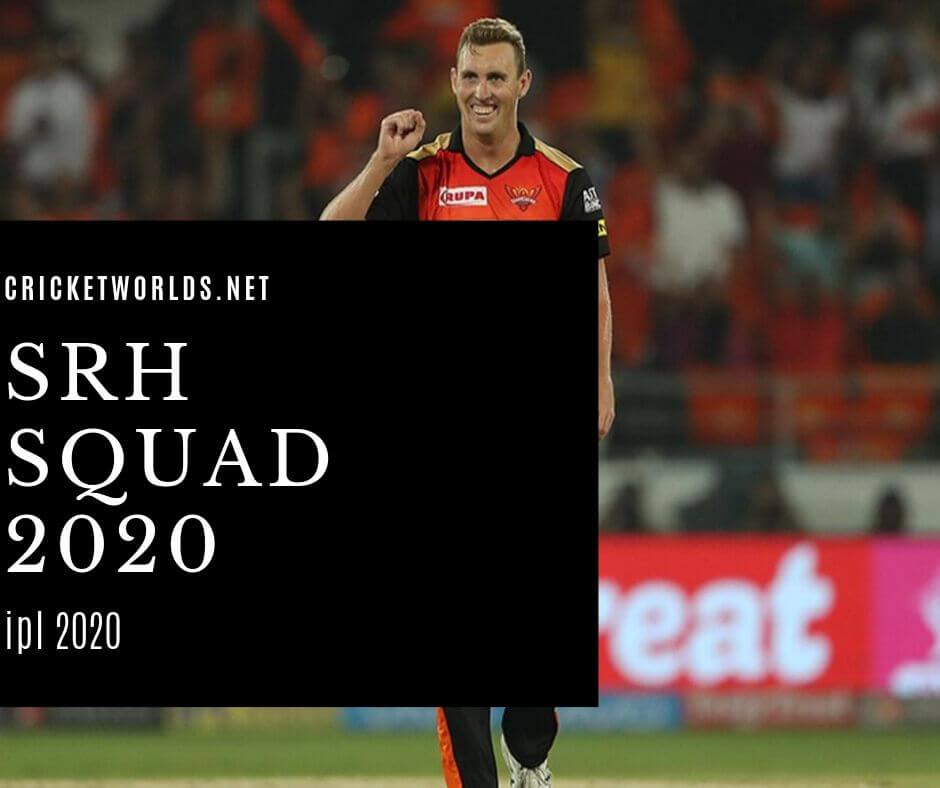 srh team players list