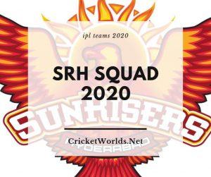 SRH Squad 2020