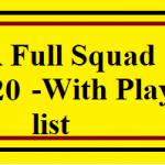 rr squad 2020