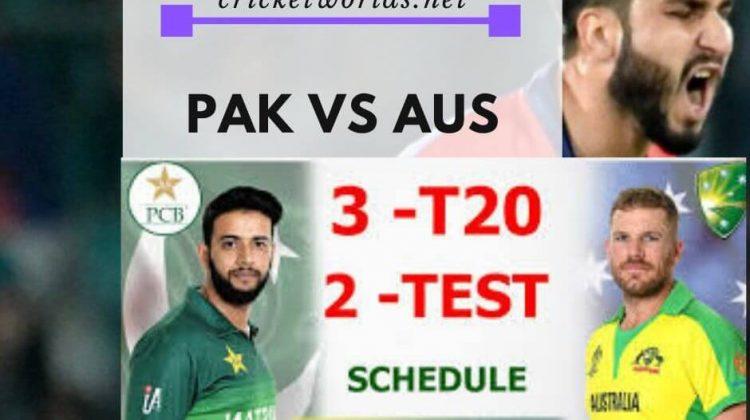 Pak Vs Aus schedule 2019