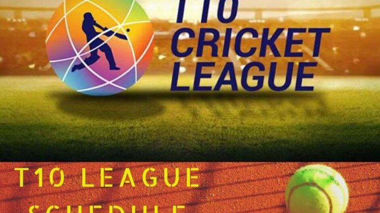 T 10 league 2019 schedule