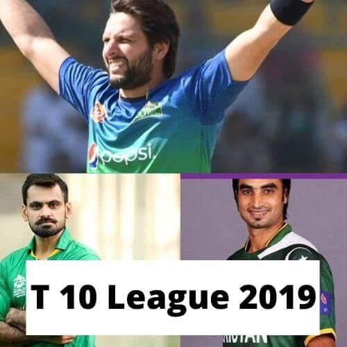 t 10 league 2019