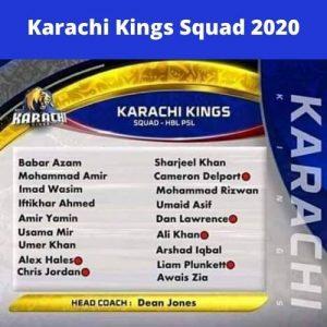 psl karachi kings Squad