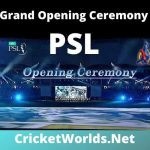PSL Opening Ceremony 2020