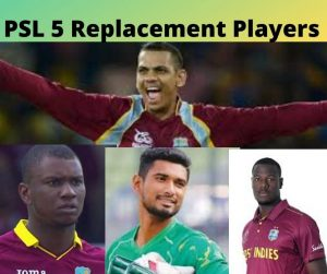 PSL5 REPLACEMENT PLAYERS