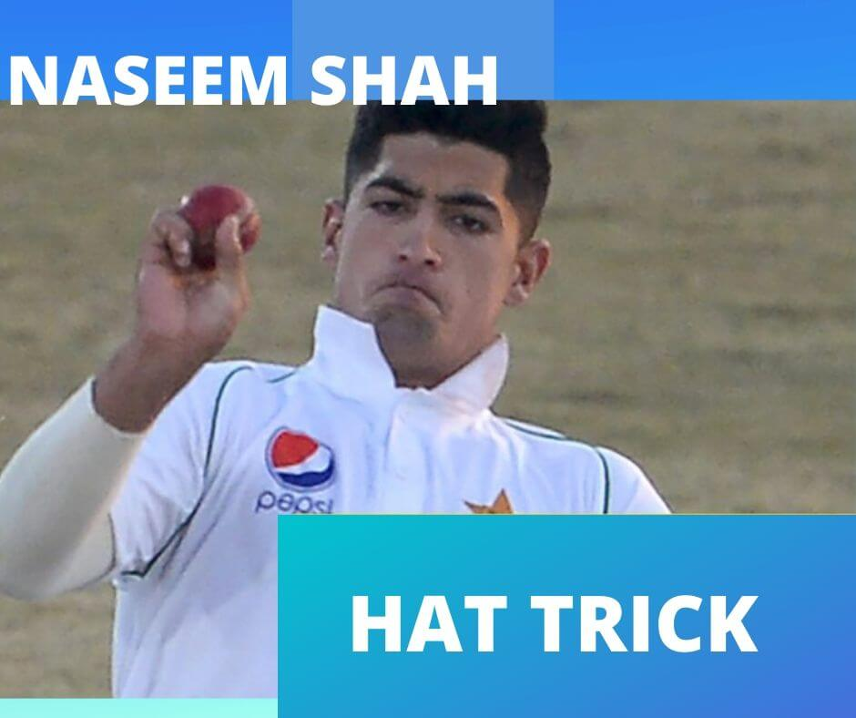naseem shah hat trick video