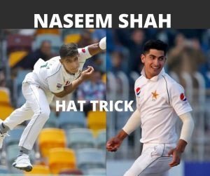 Naseem Shah Hat Trick video