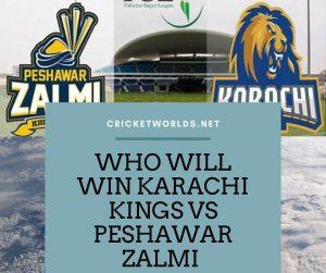 Who Will Win Karachi Kings Vs Peshawar Zalmi