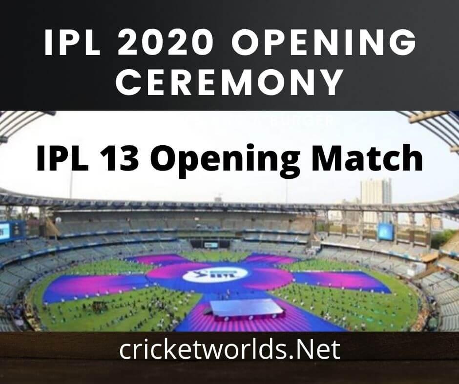 IPL 2020 Opening Ceremony