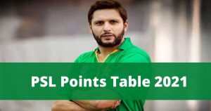 psl 6 points table 2021