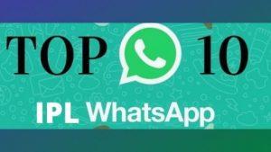 IPL 2020 live score whatsapp group