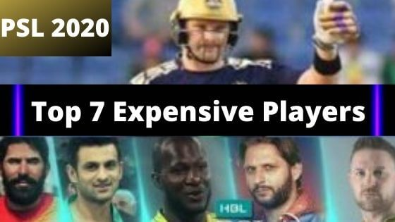 Top Paid PSL Players 2020