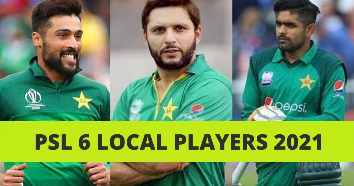 PSL 6 Local Players List