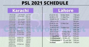 psl 2021 schedule and time table