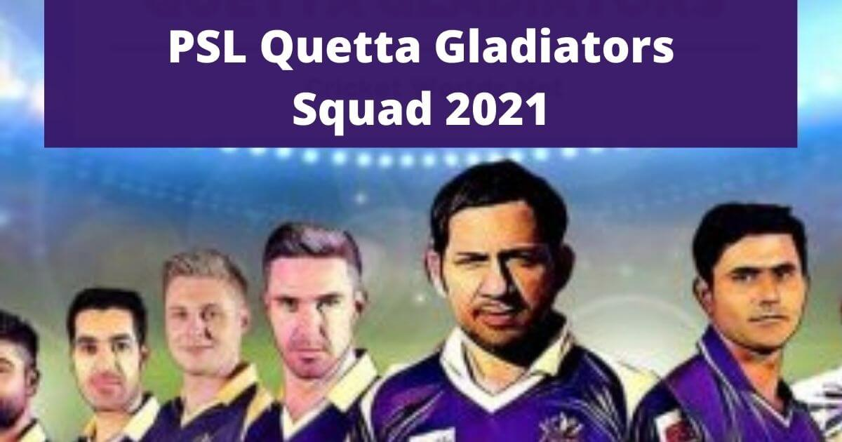 Quetta Gladiators Squad