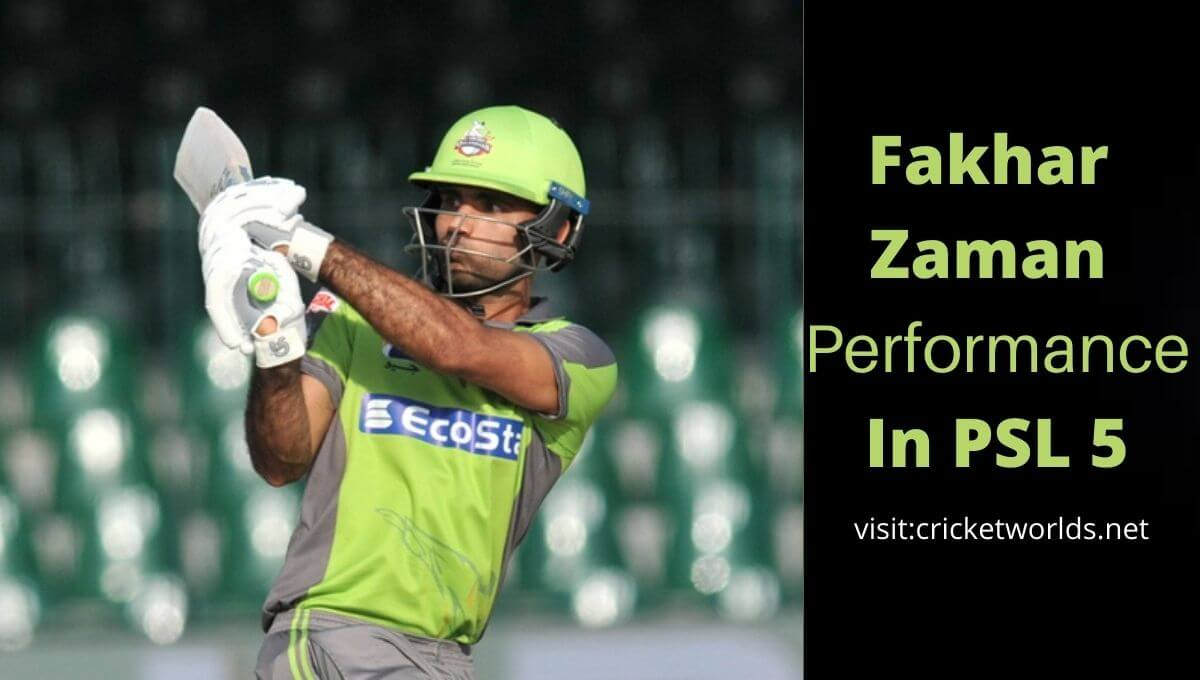 Fakhar Zaman Performance In PSL 2020