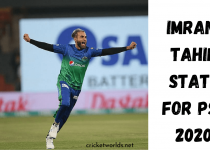 Imran Tahir Performance In PSl 2020