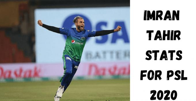 Imran Tahir Performance In PSl 2020