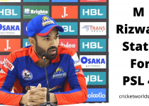 Mohammad Rizwan Performance in PSL 2019