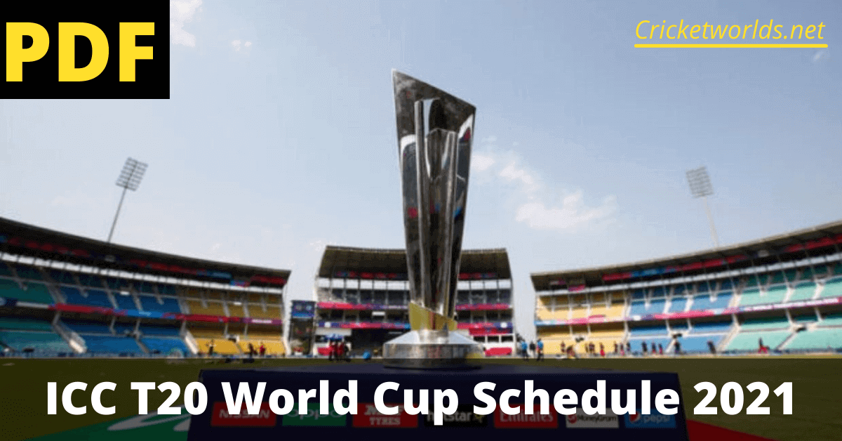 ICC T20 World Cup Schedule PDF Download