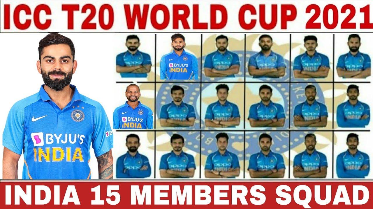icc t20 world cup India team squad